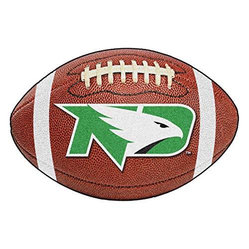 FANMATS NCAA University of North Dakota Sioux Nylon Face Football Rug