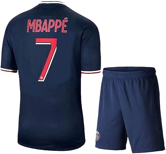 Camiseta Mbapp/é No Camiseta de f/útbol Local y visitante de la Temporada 19-20 de Par/ís Camiseta de Entrenamiento de f/útbol Neymar JR No 7 Camiseta Cavani No 9 10