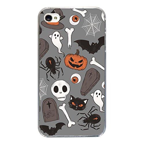 """Disagu SF-sdi-3814_1213#zub_cc2455 Design Schutzhülle für Apple iPhone 4 - Motiv """"Halloweenmuster 05"""""""
