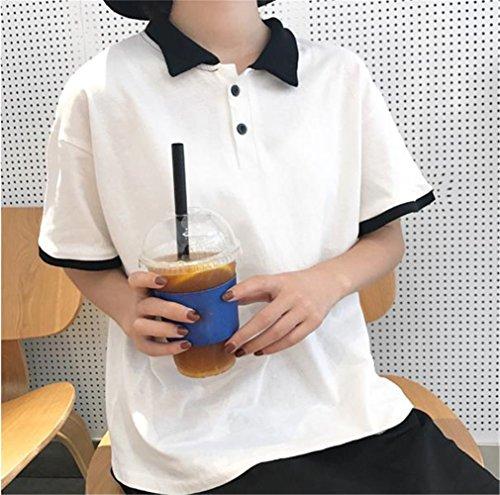 [ユリカー] ポロシャツ 半袖 レディース Tシャツ シャツ ゴルフウェア トップス 無地 ボタンダウン ゆったり スポーツ 全六色