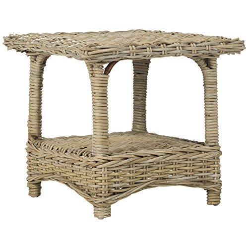 Safavieh Home Collection Bowen Wicker Side Table, Natural ()