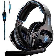 [Patrocinado] SADES SA810 audífonos de diadema para Xbox One con micrófono y adaptador para PC para PS4/Laptop, Mac