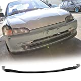 #10: Front Bumper Lip Fits 1992-1995 Honda Civic | OE SIR Style Black PU Front Lip Finisher Under Chin Spoiler Add On by IKON MOTORSPORTS | 1993 1994