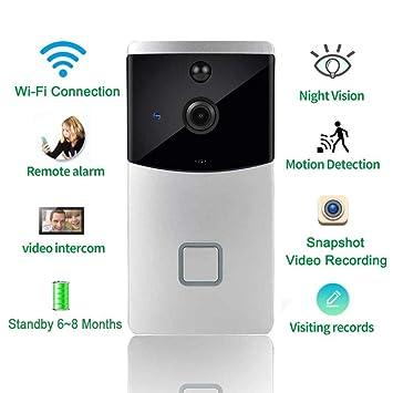KAIDILA Noche de Video Timbre inalámbrico Puerta teléfono intercomunicador Monitor Smart Bell HD cámara Sensor de