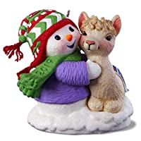 Hallmark Keepsake Christmas Ornament 2019 Year Dated Snow Buddies Snowman with Llama