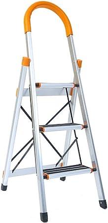 XSJZ Mini Escalera Plegable, 3 Pasos para Ampliar El Pedal de La Aleación de Aluminio Ultra Ligero Antideslizante Plegable Escalera Telescópica Que Sube Escaleras Ascendentes Escalera Plegable: Amazon.es: Hogar