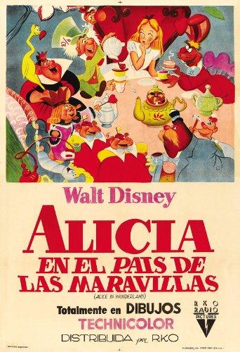Alice in Wonderland Movie Poster (27 x 40 Inches - 69cm x 102cm) (1951) Style B -(Kathryn Beaumont)(Ed Wynn)(Richard Haydn)(Sterling Holloway)