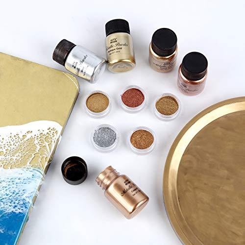 LET'S RESIN Metallic Mica Powder, 5 Jar Epoxidharz Farbe Set, Resin Farbe Pigmentpulver für Epoxidharz, Farbpulver zur Farbherstellung