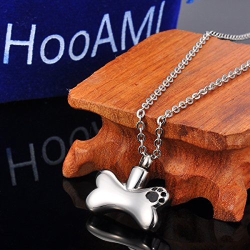 HooAMI-Pet-Cremation-Urn-Necklace-Puppy-Dog-Paw-on-Bone-Pendant-Keepsake-Memorial-Jewelry