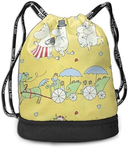 ムーミン10 大容量 クファッション印刷 バックパッ男女兼用 バックパック小新鮮 旅行スポーツバッグ 防水スイミングバック学生バッグ 多機能 収納バックパッ