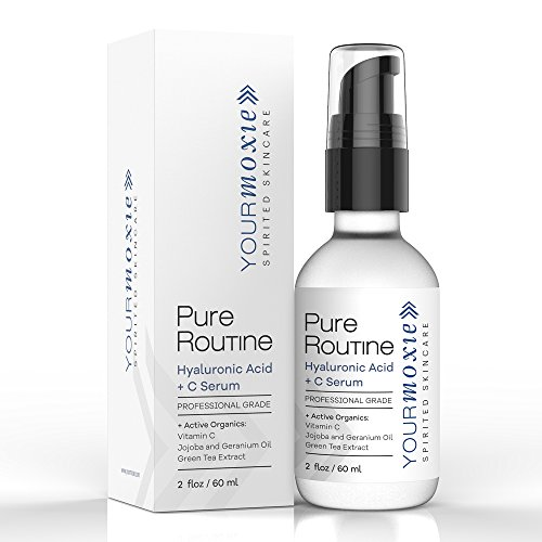 Best Hyaluronic Serum for Face - with Vitamin C - NATURAL and ORGANIC for Intense Hydration and Moisture, Non-greasy, Pure-Highest Quality, Best Hyaluronic Acid for Glowing Skin and ()