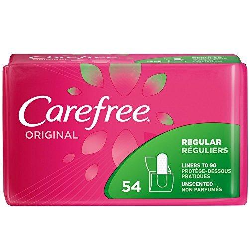 CAREFREE Original Regular to Go Pantiliners, Unscented 54 ea ( Pack of 3)
