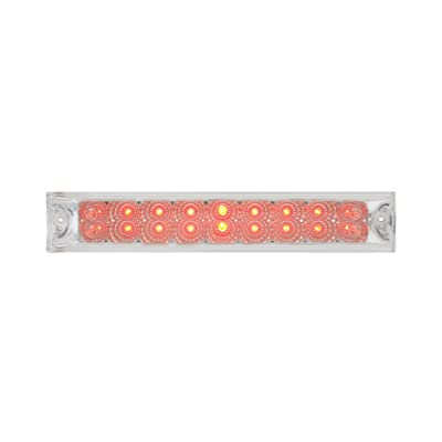 "Grand General 76988 Red 12"" Double Row Spyder 18-LED Stop/Turn/Tail Sealed Light Bar with Clear Lens: Automotive"