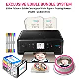 Icinginks Cake Printer Art Package includes Cake Printer, Cake Cartridges, Wafer Paper, Frosting Sheets, Set of 5 Double Tip Cake Markers - Best Cake Image Printer Exclusive Bundle