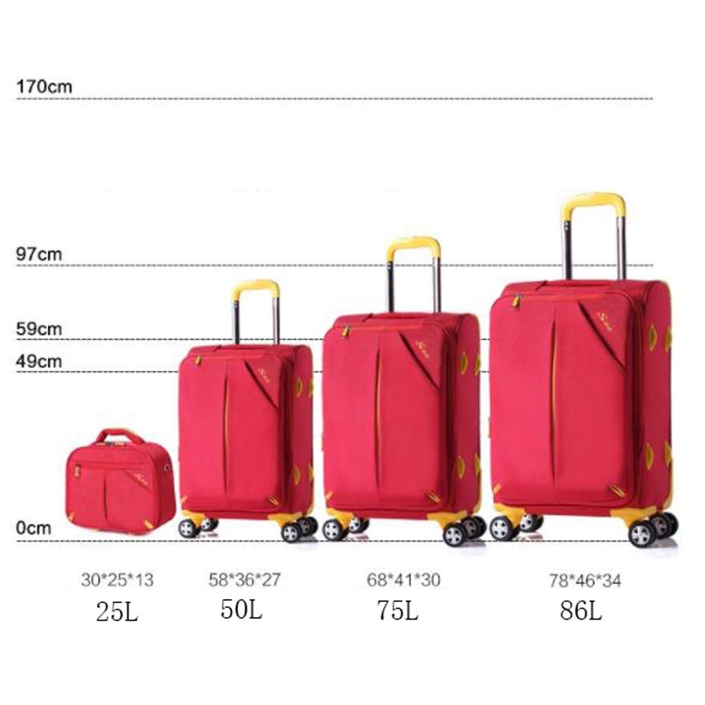 Fashion Design Boarding Waterproof Color : Blue, Size : 75L Trolley Bag Sunscreen Shoulder Bag Luggage Bag Handbag Password Box Item Storage Bag