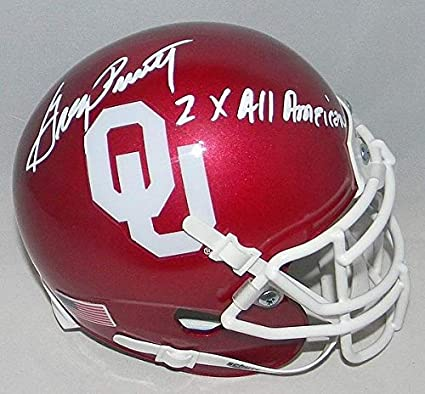 09a559e29 Greg Pruitt Autographed Oklahoma Sooners Mini Helmet Signed - JSA Certified  Authentic