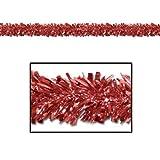 Beistle 50281-R 6-Ply Flame Resistant Metallic Festooning Garland, 4 by 15-Feet