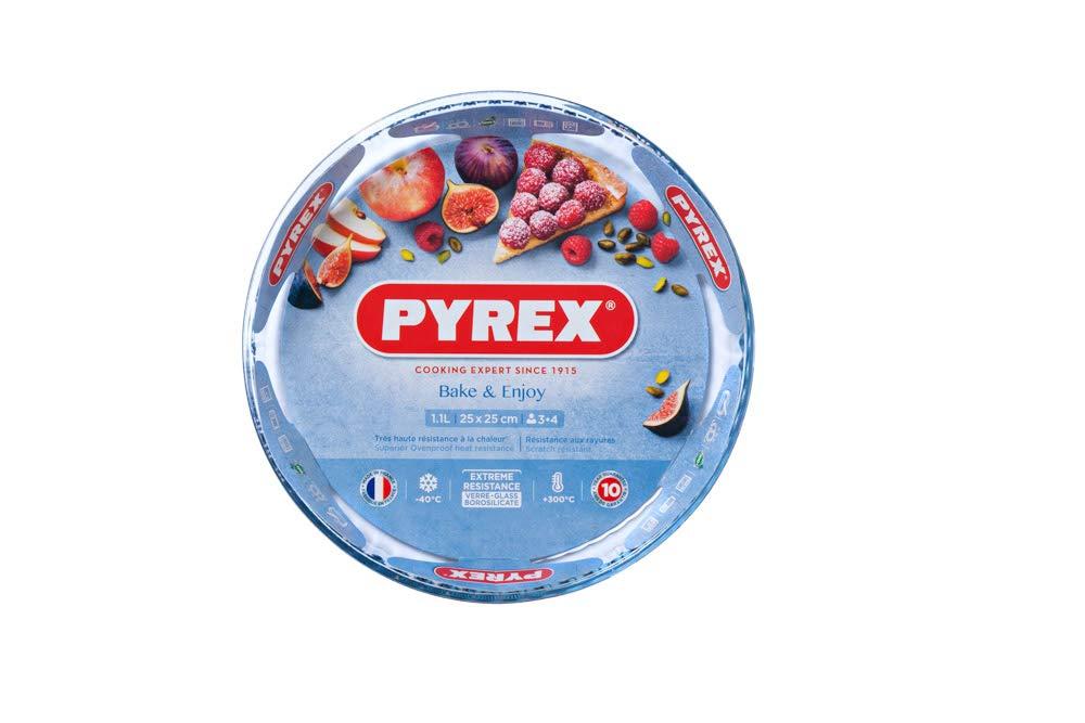 28x28x3.5 cm 1 Einheiten Transparent 1.4 L Glas Dajar Pyrex Tarteform