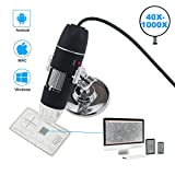 Tipmant USB Digital Microscope Magnification 40-1000x for Inspection, Industrial, Science Lab, Compatible with PC/Mac, Android Tablet/Smart Phone (Micro USB)