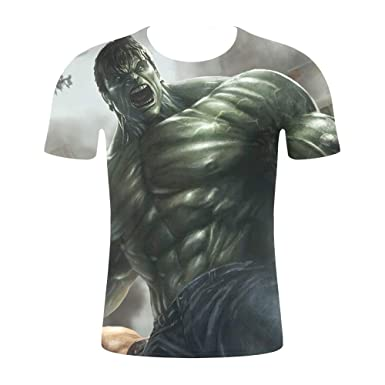 JXKEF Impresora De Camiseta 3D Películas De Anime Hulk Hombre De ...