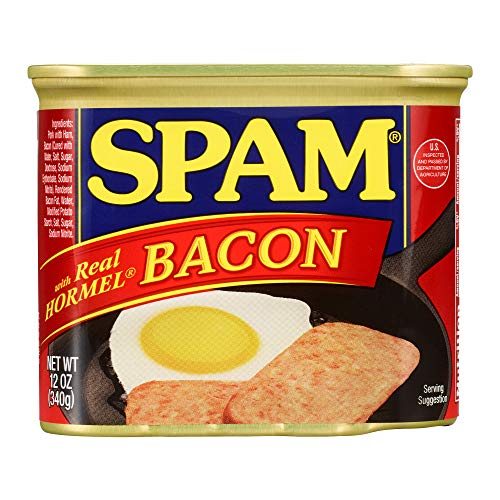 (Spam with Real Hormel Bacon, 12 Ounce Can)
