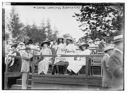 Photo  William Goadby Loew Wife   Daughters Family Monmouth County Horse Show Nj 1913