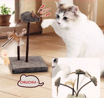 51CuVFZXyuL - KOOBA-Mouse-FluffyPal-Interactive-Cat-Toy-Efficient-Way-To-Keep-Your-Beloved-Cats-Entertained-Moving-And-Spinning-Spring-Eyes-Light-Up-Mouse-Cat-And-Kitten-Toys-For-Hours-Of-Fun-Gaming