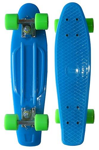 RETRO BOARDS Glow Skateboard, Blue, 22-Inch
