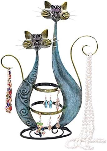anillos Soporte organizador de exhibici/ón para collares aretes ciervos Kcnsieou
