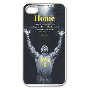 Unique Design -ZE-MIN PHONE CASE For Iphone 4 4S case cover -Lebron James Design Series Pattern 4