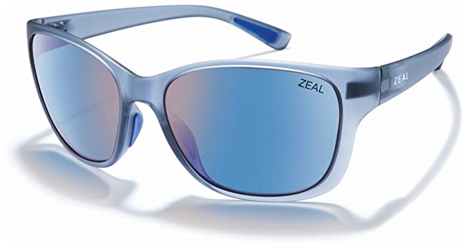 16835692c49 Zeal Optics Unisex Magnolia Matte Smoke W Polarized Horizon Blue Lens One  Size
