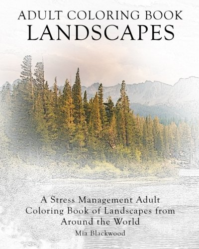 Adult Coloring Book Landscapes Management Product Image