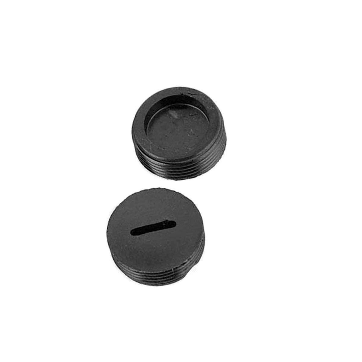 COMOK Motor Replaceable 19.5mm Dia Thread Black Plastic Carbon Brush Cap Cover 20Pcs