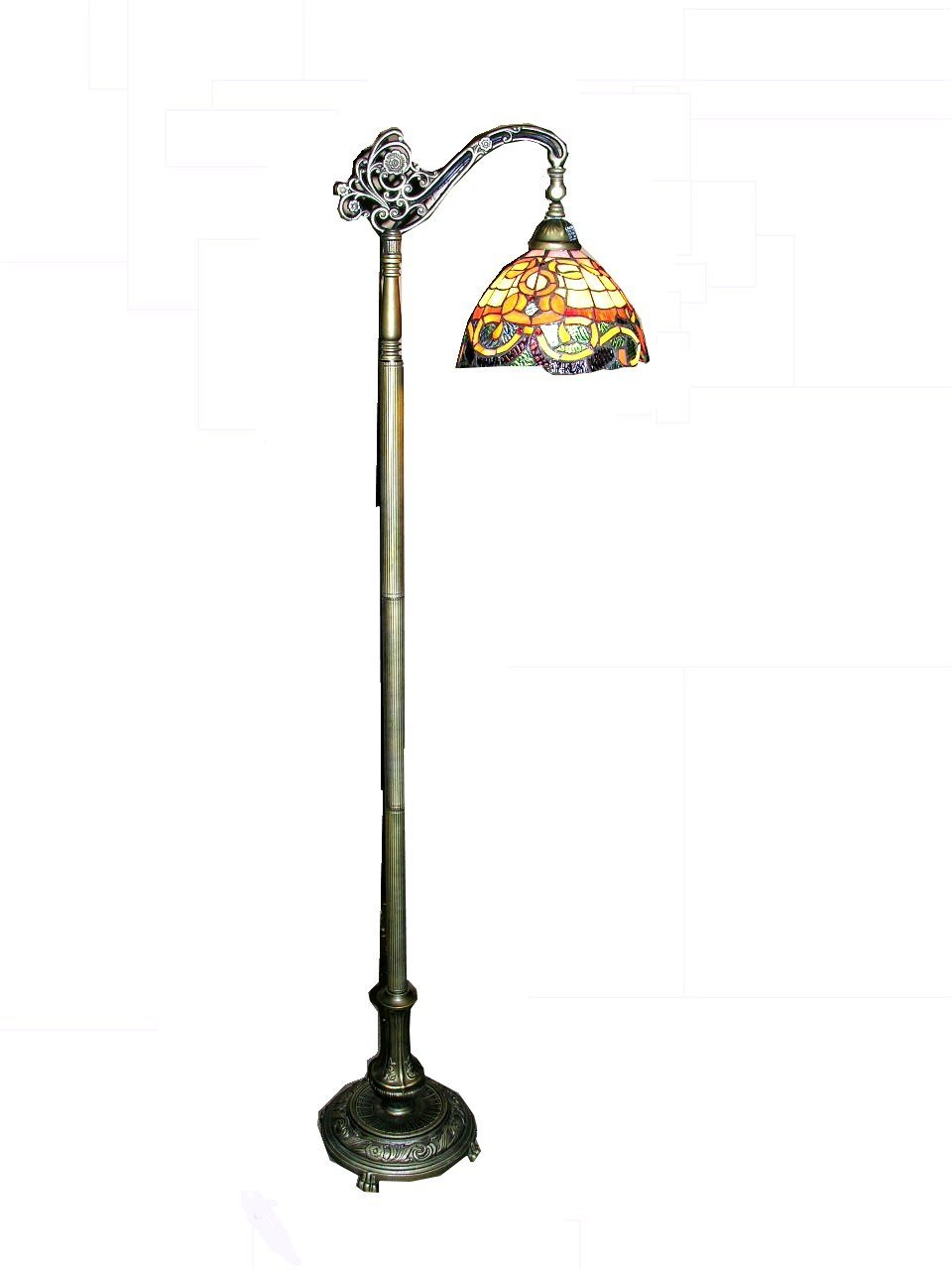 style of glass p ariel with tiffany in chain bronze pull floor warehouse switch stained antique lamps lamp