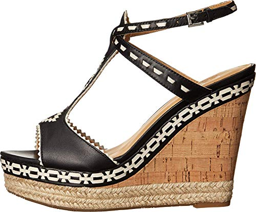 Women's Belle Leather Sandal Aivi Morrison Black Sigerson white Wedge WAn8R5S