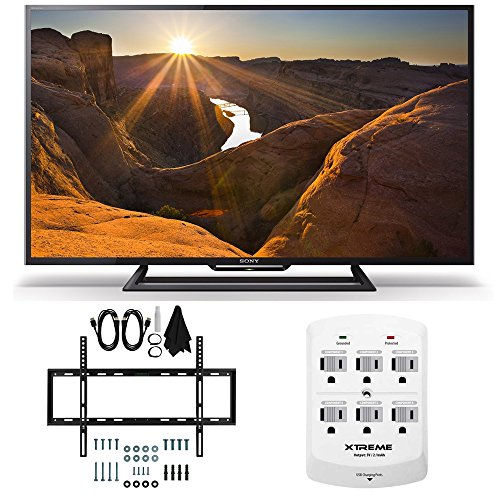 Sony KDL-40R510C - 40-Inch Full HD 1080p Smart LED TV Slim Flat Wall Mount Bundle includes Sony KDL-40R510C 40-Inch 1080p TV, Slim Flat Wall Mount Bundle and 6 Outlet Wall Tap w/ 2 USB Ports