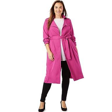 6d087e3da45 Amazon.com  Jessica London Women s Plus Size Tencel Open Trench Coat   Clothing