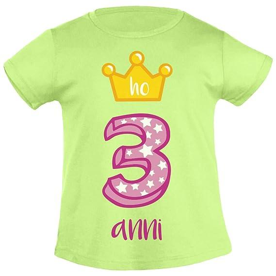 Shirtgeil ¡Feliz cumpleaños! Tengo 3 años. Corona de ...
