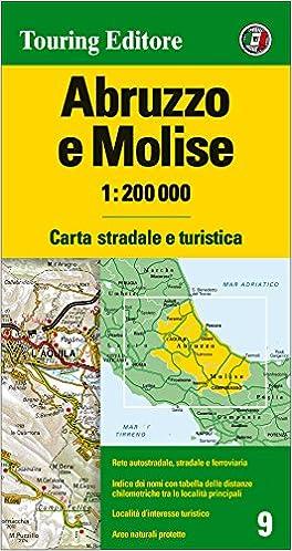 Cartina Stradale Abruzzo Molise.Amazon It Abruzzo E Molise 1 200 000 Carta Stradale E Turistica Ediz Multilingue Aa Vv Libri