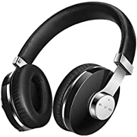 Padcod Bluetooth Headphones Over Ear Hi-Fi Stereo Wireless Headset Foldable Soft Memory Protein Earmuffs, w/ Built-in Mic and Wired Mode for PC/ SmartPhones/ TV/Laptop (Black)