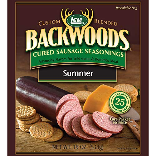 LEM Backwoods Cured Sausage Seasoning with Cure Packet (Best Venison Sausage Recipe)
