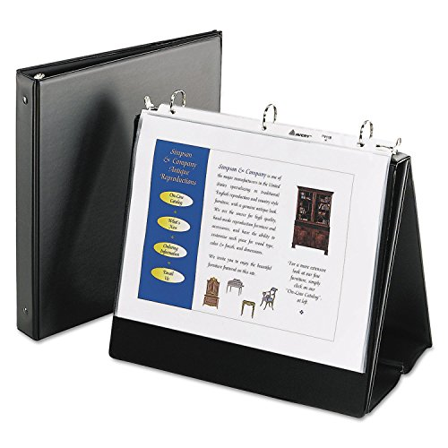 Avery 12880 Easel Binder, 1-Inch Round Rings, Holds 11 x 8-1/2 Paper, Black