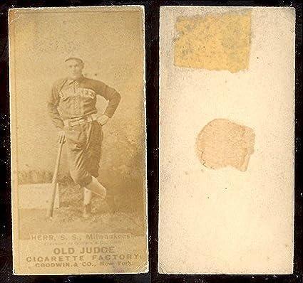 1887 Old Judge N172 Regular Baseball Card 225 Ed Herr Of The