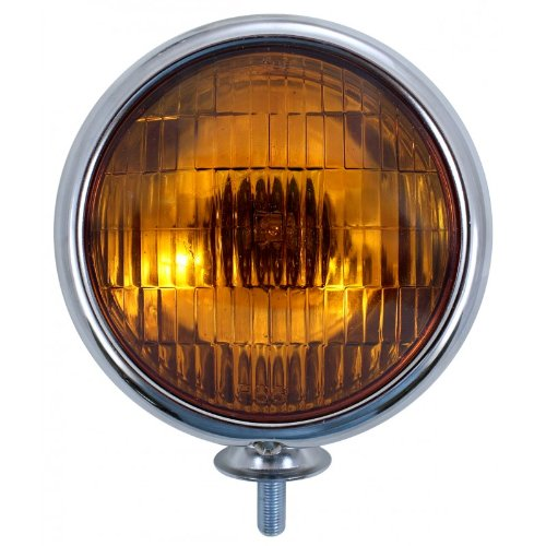 United Pacific C364007 Chrome Vintage Style Amber Fog Lights-12 V ()