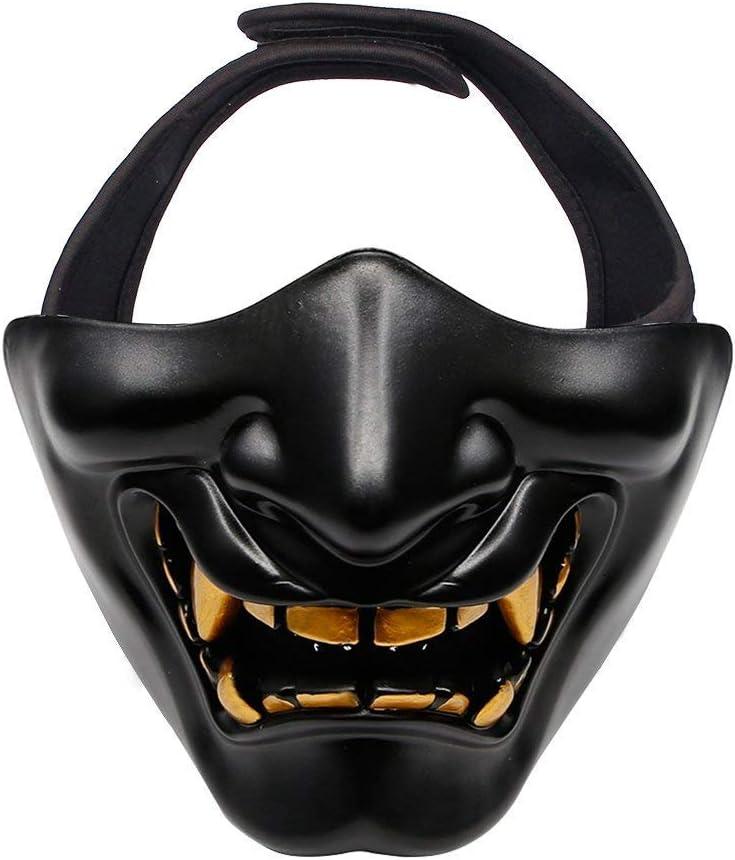 MAKE FINE Máscara Táctica Media Máscara para Airsoft/Paintball/Juego CS/Caza/Disparo Protección De La Cara Inferior Máscara Táctica Máscara Ideal De Halloween Fiesta De Cosplay