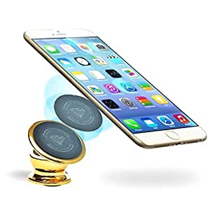 Magnetic Car Mount Holder, Universal 360° Rotation Car Phone Holder, Dashboard Mount, Cell Phone Car Cradle for All Smart Phones, GPS/Light Tablets, iPhone 5, 6 & 7 Galaxy S7 & S6