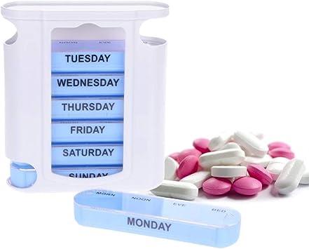 pastilleros 7 días Balight Portable Seven Days 28 Rejilla Caja de ...