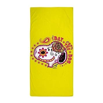 CafePress - Toalla Snoopy Día de la cara Snoopy perro toalla de playa, color blanco: Amazon.es: Hogar