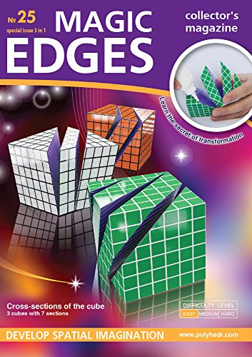 Magic Edges. Polyhedra 3D Paper Model Kit. Issue #25 Cross-Sections of The Cube. Three Cubes + Seven ()