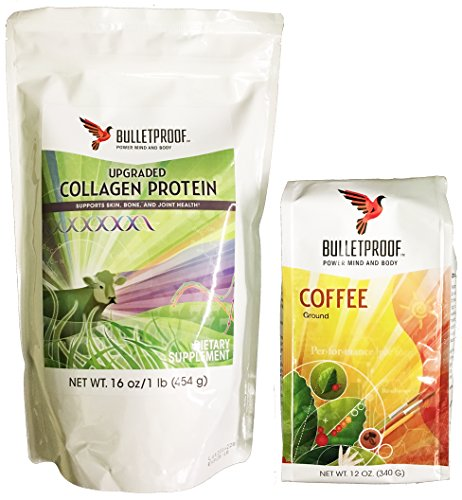 Bulletproof Tutor Coffee and Upgraded Collagen Protein Combo Pack
